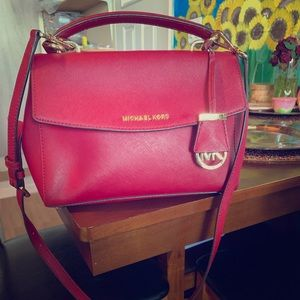 Authentic Michael Kors Red Bag